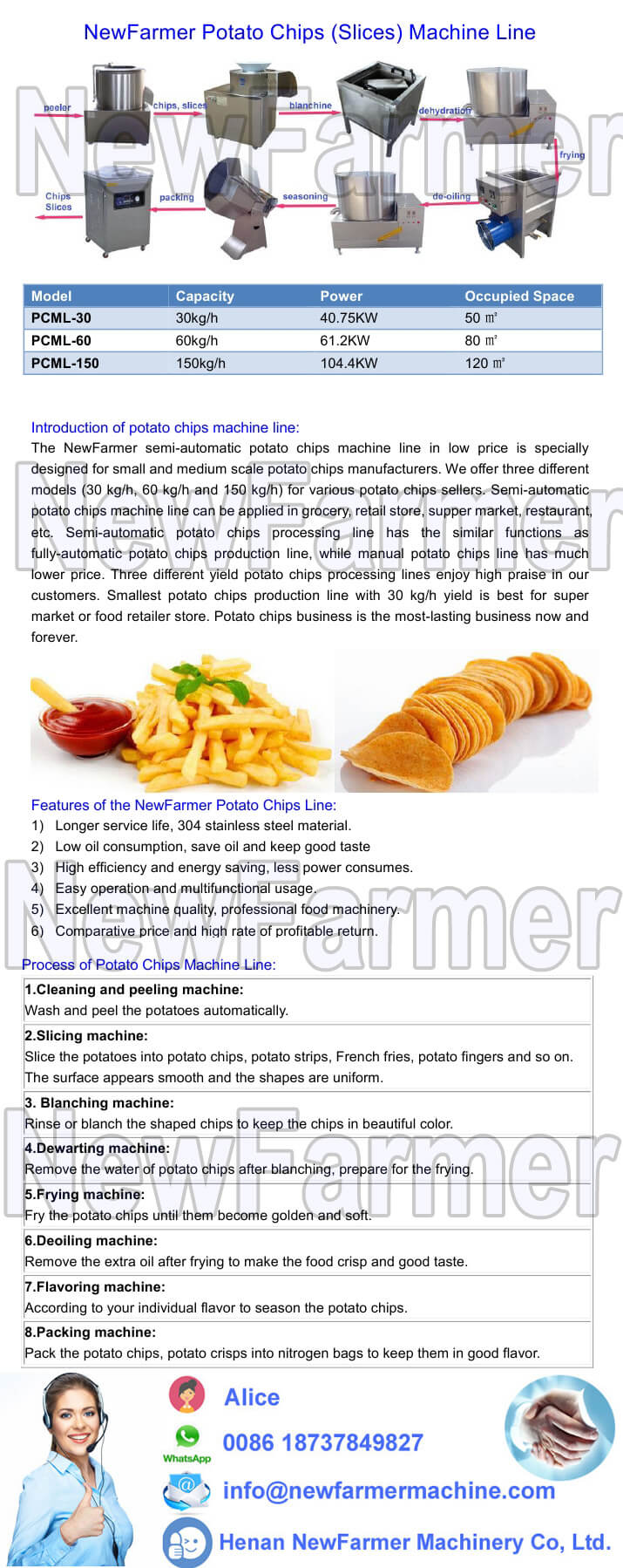 potato chips machine line